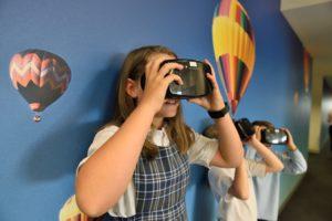 KS3 Children with VR headset