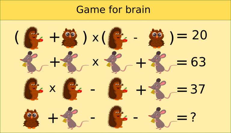 Maths - games for the brain