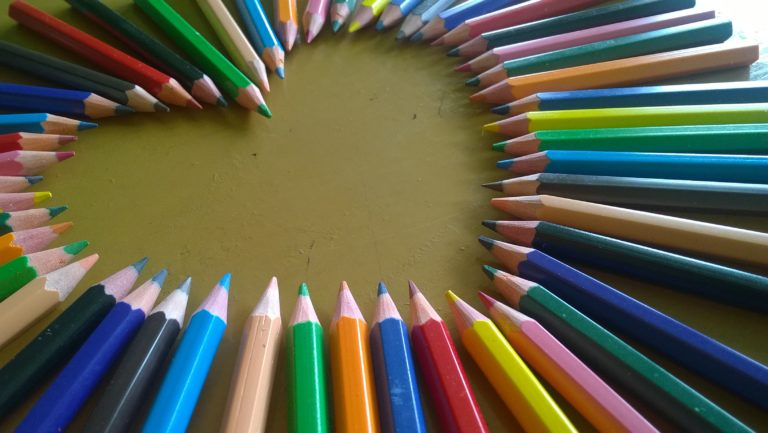 About us - how Teaching At Home came to being - coloured pencils