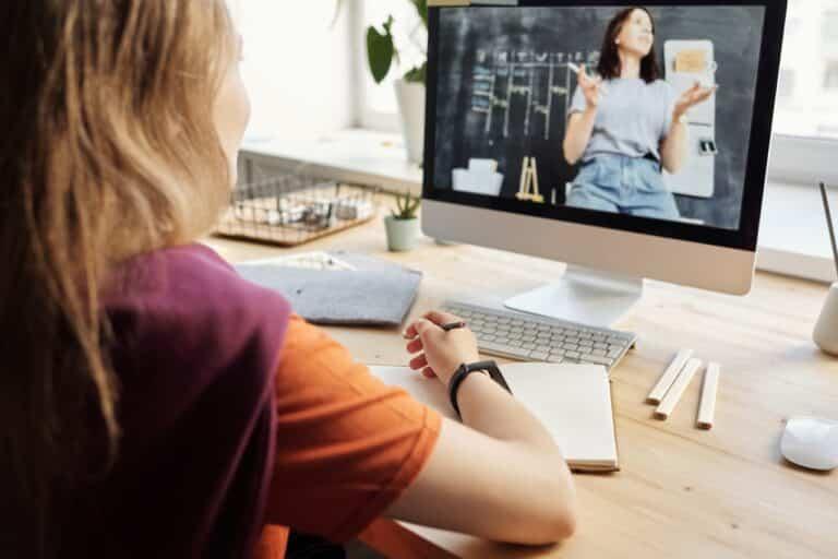 Virtual tutor online lesson